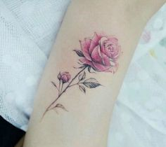 Trendy tattoo rose watercolor 26 Ideas - Trendy tattoo rose watercolor 26 Ideas The Effective Pictures We Offer You About wolf tatto - Rose Tattoos For Men, Pink Rose Tattoos, Flower Wrist Tattoos, Trendy Tattoos, Unique Tattoos, Beautiful Tattoos, Small Tattoos, Tattoos For Women, Tatoo Rose