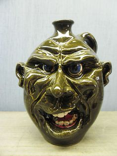Pottery Face Jug By Ryan Mckay