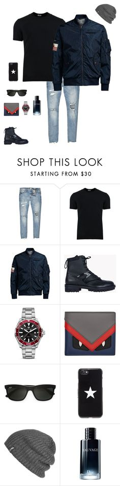 """Untitled #846"" by r783x ❤ liked on Polyvore featuring River Island, Dolce&Gabbana, Jack & Jones, Dsquared2, TAG Heuer, Fendi, Ray-Ban, Givenchy, Outdoor Research and Christian Dior"