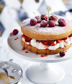 Victoria Sponge Recipe | Gourmet Traveller #cakes #tea #English_recipes #sponge_cake #cream