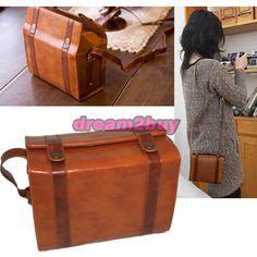 Leather Shoulder Case Bag w/ Strap for Fujifilm instax Mini 8 7S 25 90 Camera