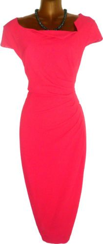 Gorgeous-L-K-BENNETT-Davina-Ruched-Wiggle-Pencil-Dress-UK-16-US-12-Immaculate The dress ASO Kate, the Duchess of Cambridge, although this one is a dark raspberry pink. A classic shape that flatters all, a definite favourite. Will be selling this one too. x