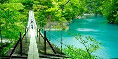 恐怖も忘れる美しさ!ターコイズブルーの湖に架かる「夢の吊橋」 | icotto[イコット]