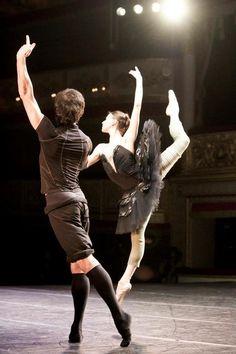 Danila Korsuntsev and Anastasia Matvienko rehearsing Swan Lake.  Photo (c) Nikolay Krusser.  http://primaballerina83.tumblr.com/