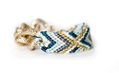 PRE ORDER  Tribal chain bracelet in Blueberry by alexandrajade, $18.95