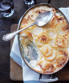 Rich with cream, potato gratin is a special-occasion recipe in all meanings of the phrase. | From appetizers to desserts, recipes as special as the holiday itself.