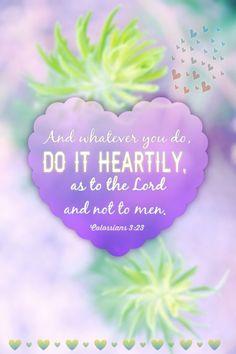 Colossians 3:23 (NKJV)