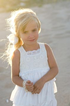 Casual flower girl dresses for beach wedding – Organization of ...