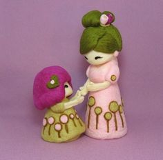 Felted dolls from YuYuArt. Talk to LiveInternet - Russian Service Online Diaries