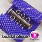 Tutorial - How to Attach Tube Clasps to Peyote Bead Weaving. #Seed #Bead #Tutorials