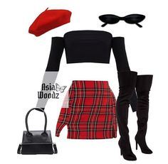 #bratz #outfits #inspiration Bratz inspired outfit ( If you want the direct links to an outfit DM me) ... Clueless Outfits, Kpop Fashion Outfits, Stage Outfits, Edgy Outfits, Mode Outfits, Retro Outfits, Cute Casual Outfits, Girl Outfits, Mode Kpop
