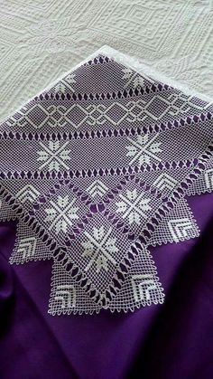 Needle Lace, Needle And Thread, Crochet Home, Crochet Crafts, Knitting Patterns, Point Lace, Bargello, Needlepoint, Embroidery