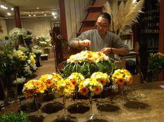 Mijn freelance bloemist werkzaamheden in Japan. Bruidsbloemwerk. Fujioka Gunma Japan. Nov. 15 2014.