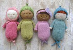 Amigurumi Knit Baby Doll Patterns Digital Download di AmyGaines