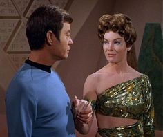 Dr.McCoy and High Priestess Natira from the episode For The World Is Hollow And I Have Touched The Sky.