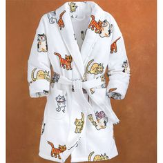 Happy Cat Robe - Gifts, Clothing, Jewelry, Home Decor and Home Furnishings as Featured in Popular Catalogs   Catalog Favorites