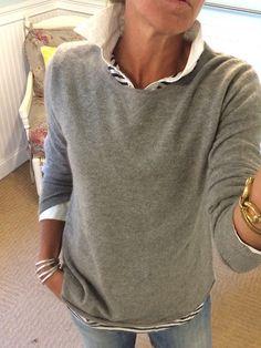 Cashmere Sweatshirt Tunic