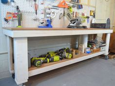building a workbench, basement ideas, diy, woodworking projects