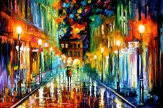 Romantic Evening  ARTISTIC SIGNED PRINT by AfremovArtStudio