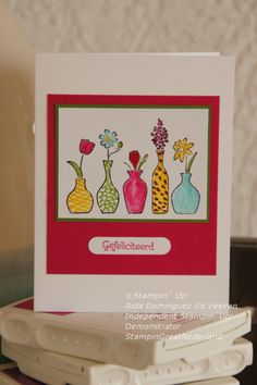 Vivid vases Stampin' Up stamp