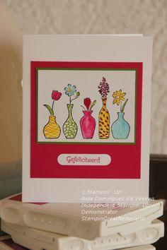 Vivid vases Stampin' Up stamp