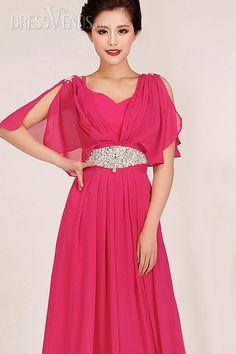 Stylish Paillette Floor-Length Spaghetti Straps V-Neck Evening/Prom Dress
