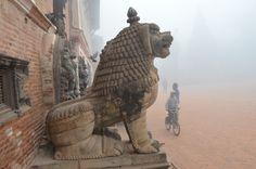 bhaktapur durbar square in winter