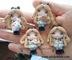 Alice in Wonderland polymer clay chibi