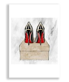 Oliver Gal Red Heels Red Shoes Art Print | zulily