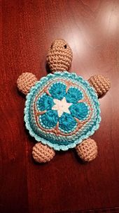 """...Press opening flat with your fingers and close the 2 sides with 3 sc across the opening. <span class=""""best-highlight"""">Leave a long tail for</span> sewing to the body.  Baby Turtle Head: Rnd 1: 6..."""