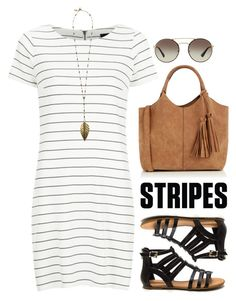 #shirtdress #stripes by hayr0se on Polyvore featuring polyvore, fashion, style, VILA, Oasis, Boho Gal, Prada, clothing and stripedshirt