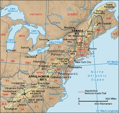 appalachians mountain range on world map fiords are found in coastal