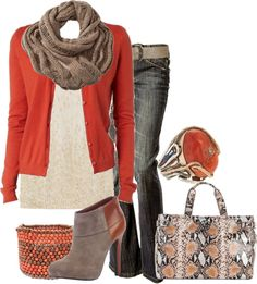 """Fall in Coral"" by lagu ❤ liked on Polyvore"