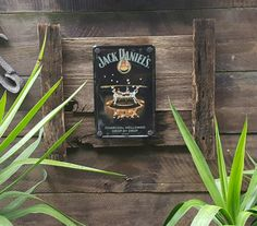 """Jack Daniels """" Drop by drop """" tin sign bolted to rustic recycled timber frame which measures 45cm x 55cm approx........ $60 Click this link to go straight to our website to order and see heaps more designs to choose from www.newagerusticdesigns.com.au"""