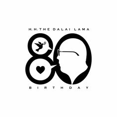 His Holiness the Dalai Lama's 80th birthday celebration logo by Lonzz Gagatsang.