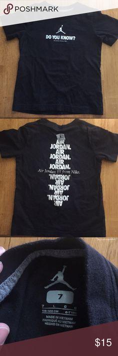 bcdb47201e12 Boys Jordan tee shirt. Size 7 but fits like a 5-6 Boys Jordan