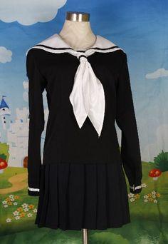 New Japanese School Girl Sailor Uniform Cosplay Costume | eBay