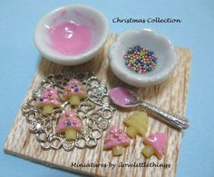 christmas dollhouses | Dollhouse Miniature Christmas Cookies Board - MADE TO ORDER
