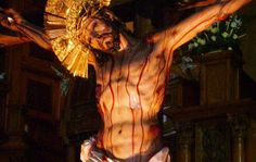 O Precious Blood of Jesus, infinite price of sinful man's redemption, both drink and laver of our souls, Thou who dost plead continually the cause of man before the throne of . Santa Cecilia, St Therese Prayer, Spanish Prayers, Catholic, Blood, Saints, Statue, Papa Francisco, Html