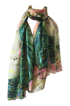 Cashmere Silk Scarf - Fancy Bird by VIDA VIDA 7nlGD