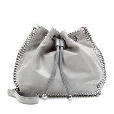Stella McCartney Drawstring Faux Suede Shoulder Bag (4.955 HRK) found on Polyvore