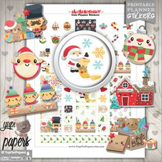 50%OFF - Christmas Stickers, Planner Stickers, Christmas Planner Stickers, Planner Accesories, Santa's Workshop, Winter Stickers