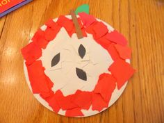Fall Preschool Apple Craft Ideas can cut or rip. can add a writing aspect.