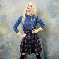 Buy 'ELF SACK – Plaid Jumper Dress ' with Free Shipping at YesStyle.com.au. Browse and shop for thousands of Asian fashion items from China and more!
