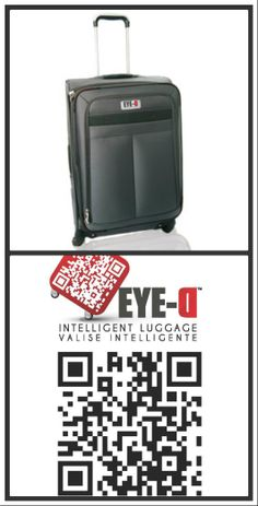 Valise EYE-D: Scanner... géolocaliser : valise repérée! Scanner, Suitcase, Travel, Accessories, Suitcases