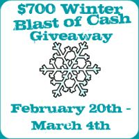 Win $700 in the Winter Blast of Cash Giveaway. Enter until 3/4/12. It has a great list of blogs at the end.