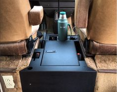 Locking steel center console for the Vanagon