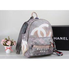 Chanel Original Authentisch Rucksack Grau Tasche günstig billig kaufen