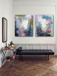 Abstract paintings by RIkke Laursen