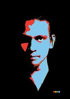 simple vector portrait